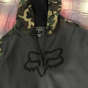 brand new men's FOX RACING zip up hoodie.